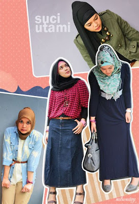 Hijab Style : Suci Utami-Saturday
