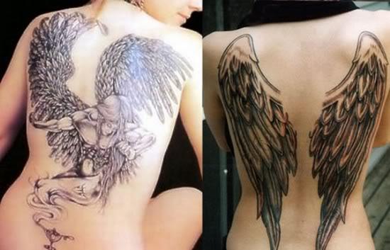 tatuaje forma angel. Tattoo: Alas