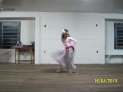 Naty dançando sua própria coreografia