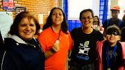 diretora Neuza, profe Fátima, Janete da Embrião e Dessinha