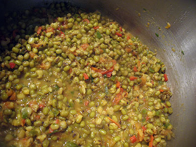 Mustard-Flavored Mung Beans