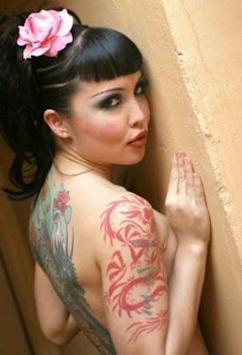 Dragon Tribal Tattoo on Hand Girl