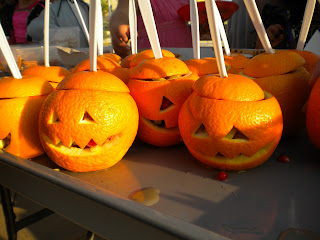 snack o lanterns fruit salads halloween food
