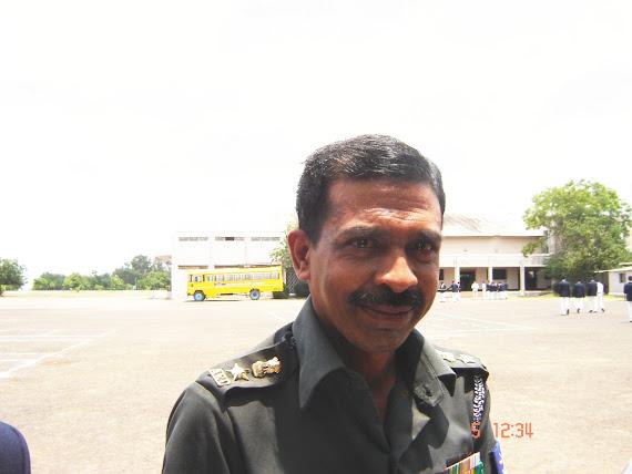 Col C Ravindra Reddy in the quadrangle