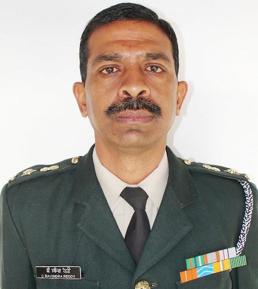 Lt Col C Ravindra Reddy in ceremonial Uniform