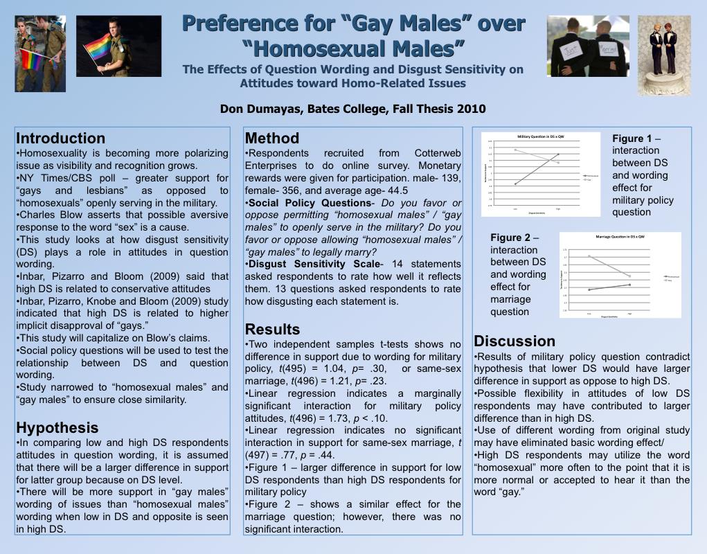 pomona college psychology thesis