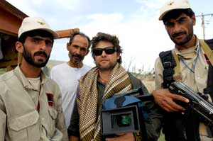 Ian Hamilton with Security Guards in Kabul