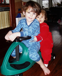 The kids on D-'s new Plasma Car, after the bruises subsided somewhat