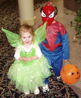 When Spider-Man got tired of swinging, he called in Tinkerbell to help him fly