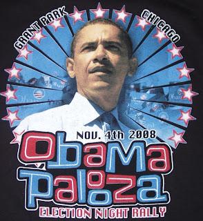 Obama rally shirt - Obama as Action Hero