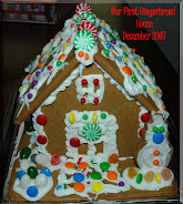 Our gingerbread house, Christmas 2007