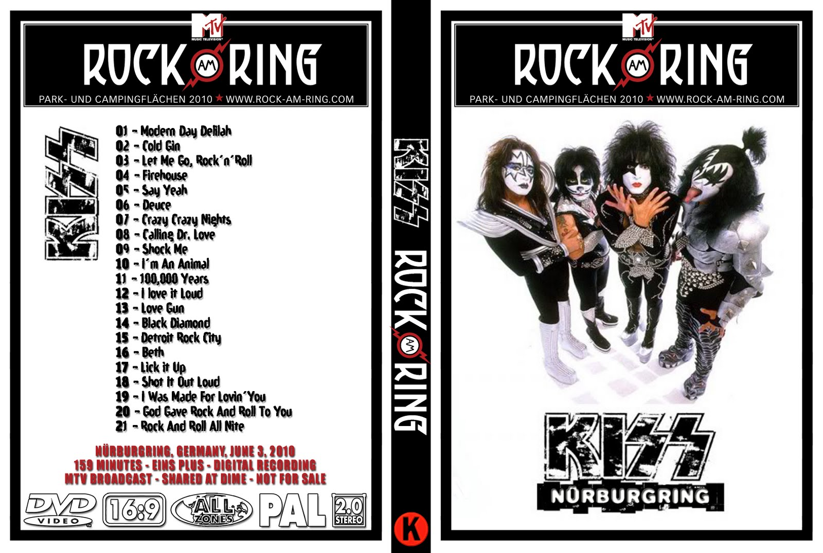 stay rock kiss rock am ring live broadcast. Black Bedroom Furniture Sets. Home Design Ideas