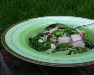 Bok choy with radish for color