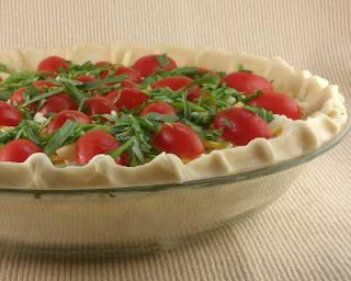 Tomato Basil Quiche