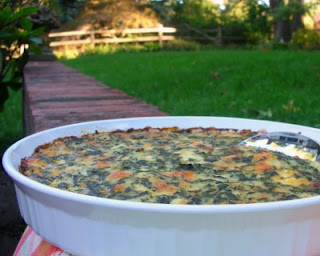 My friend Christi's grandmother's recipe for Spinach Casserole