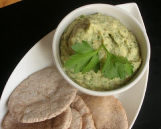 Baba ganoush doesn't often include parsley but it definitely improves the color from eggplant gray to parsley fresh
