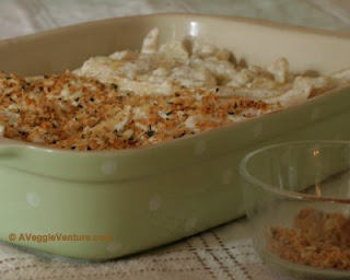 Who needs fresh bread crumbs? Just sprinkle the casserole with a crumb topping made from panko