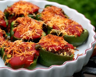 My aunt's recipe for Stuffed Peppers, tomato soup and all