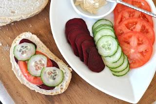 Raw Beet Sandwich