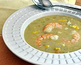 Sengalese Soup (Shrimp Soup with Corn, Honey, Lime Juice & a Touch of Curry)