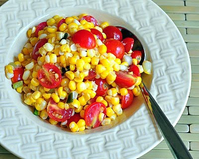 ... salad. Fresh Corn & Tomato Salad: Text, recipe and photograph