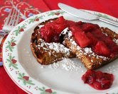 Eggnog French Toast with Apple Cranberry Compote