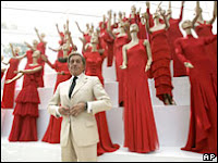 Valentino and his red gowns
