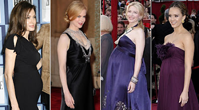 Pregnant celebrities Oscar's '08