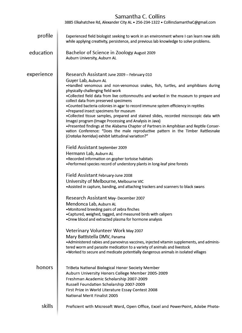 veterinary technician practicum student resume samples veterinary
