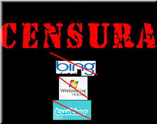 Censura Bing microsoft hotmail more adwords