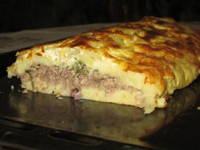 Картофельная   ЗАПЕКАНКА    с мясом.