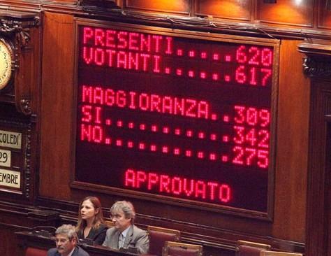 Immagine del voto di Fiducia del 17 dicembre 2010