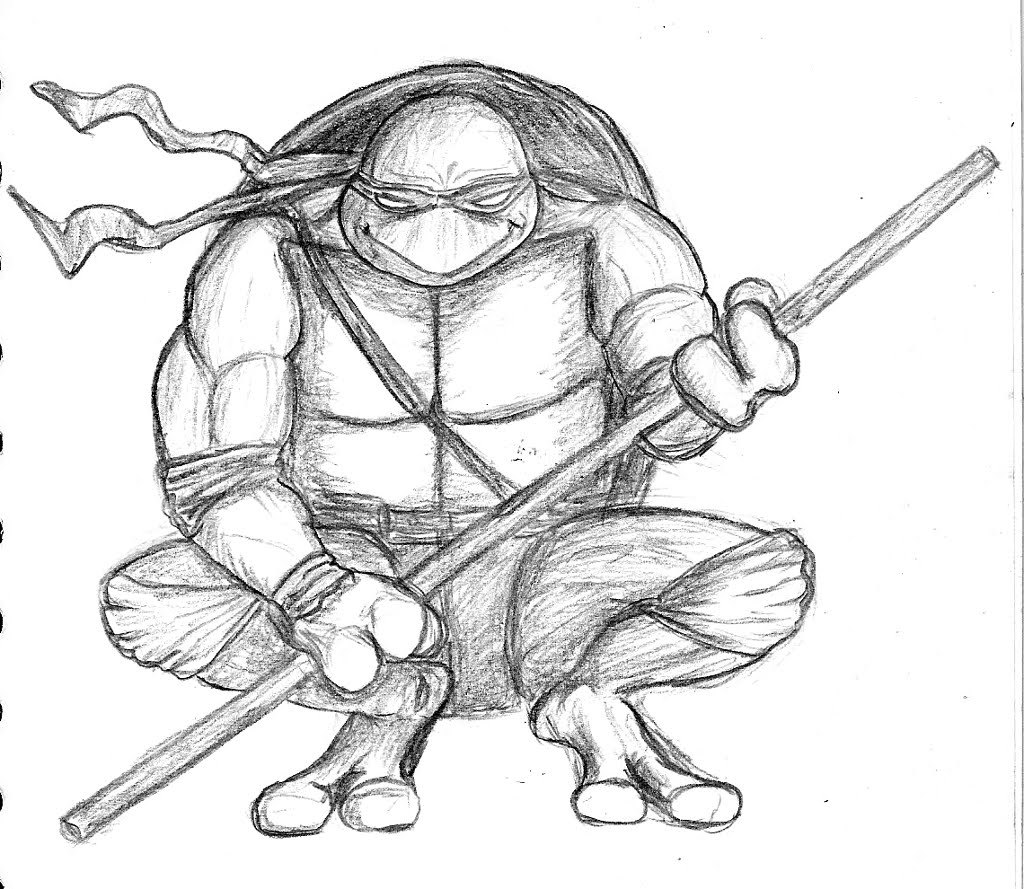 Ninja turtle donatello drawing