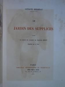 """""""Le Jardin des supplices"""", avec un Frontispice de Rodin, 1899"""