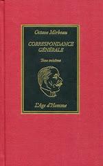 """""""Correspondance générale"""", tome III, 2009"""