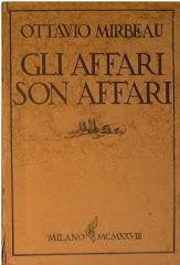 """Traduction italienne des """"Affaires sont les affaires"""", 1928"""