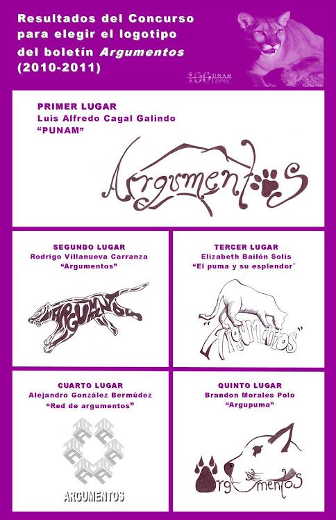 Cartel con los ganadores del concurso 2010