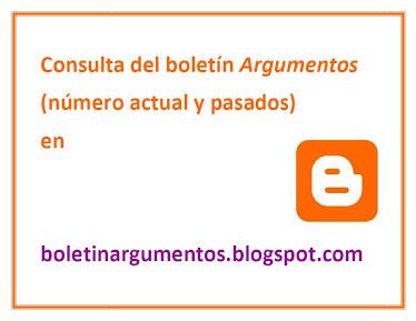 Blog del Boletín Argumentos