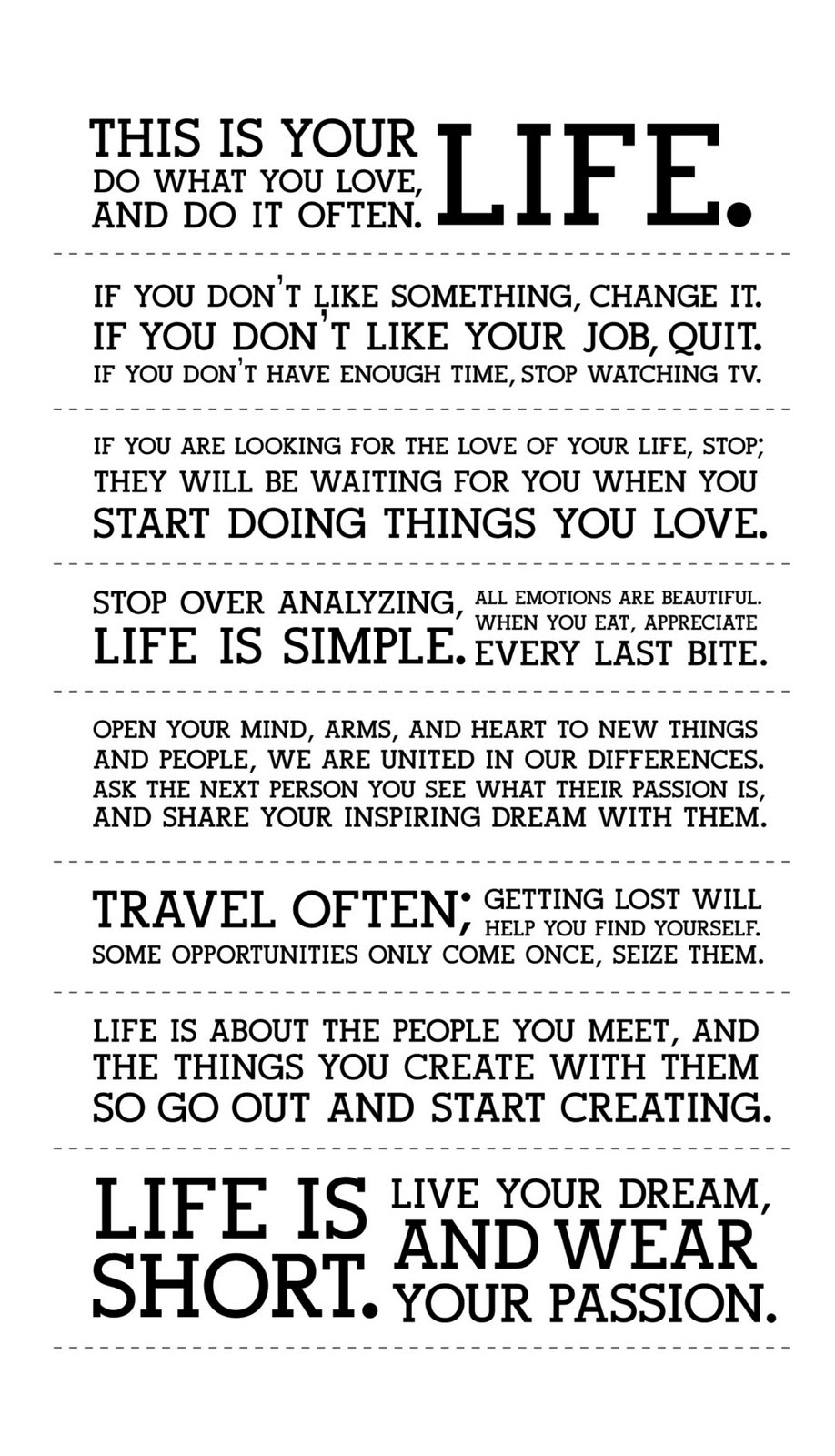 reaction paper to holstee manifesto Posts about precedents and inspiration written by  my first reaction was a need to tear the pages out from the end of the book to hang them on my  holstee https.