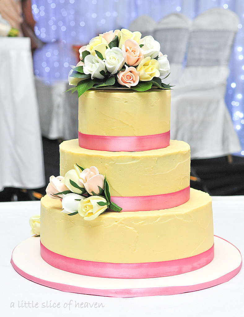 a little slice of heaven: Simple Wedding Cake