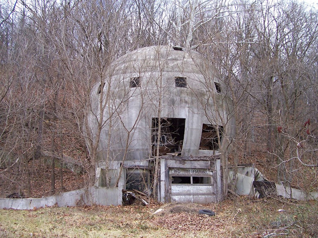 The abandoned concrete round house logan ohio usa for Building a home in ohio