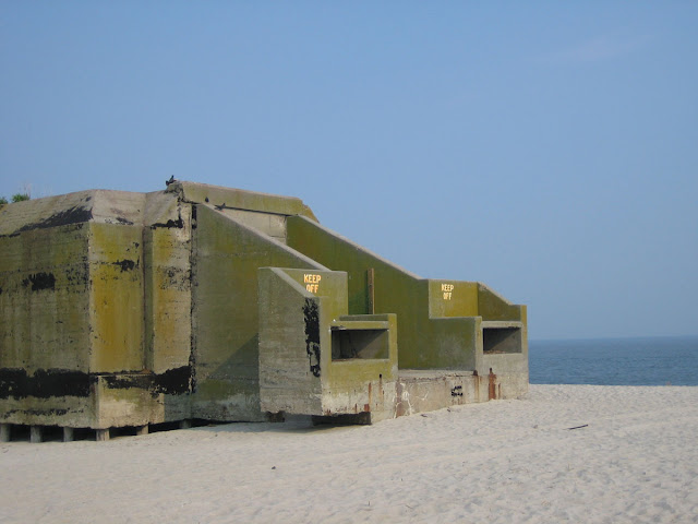 Dead giant on the beach abandoned cape may concrete ww2 bunker coordinates 38555348n 74571970w google map gumiabroncs Choice Image