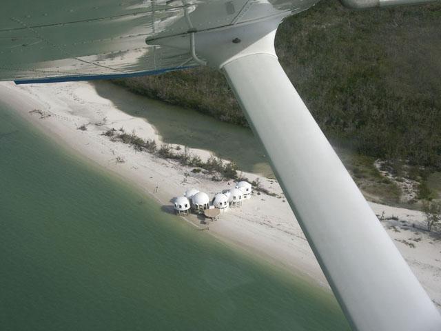 The white domes of Cape Romano island