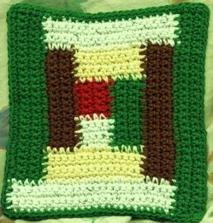 free crochet baby blanket pattern in Kiddo Yarn Log Cabin Design
