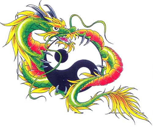 still want to be cool just get a chinese black dragon temporary tattoo.