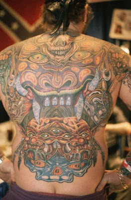 Dragon tattoo read it at for Full head tattoo
