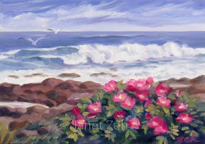 Rocky Coast oil painting