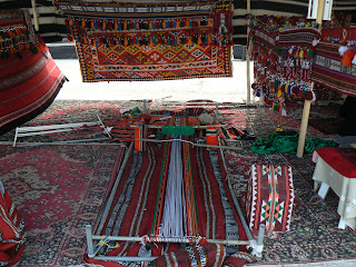 A tradional loom on display in a Bedouin Heritage Village