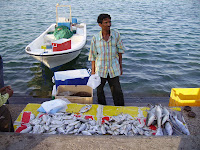Selling fish on the Corniche