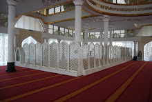 The Divider in the Mosque for Women Jemaah at Masjid Kristal Kuala Trengganu
